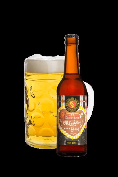 Das ist kein Oktober****bier Flasche mit Glas
