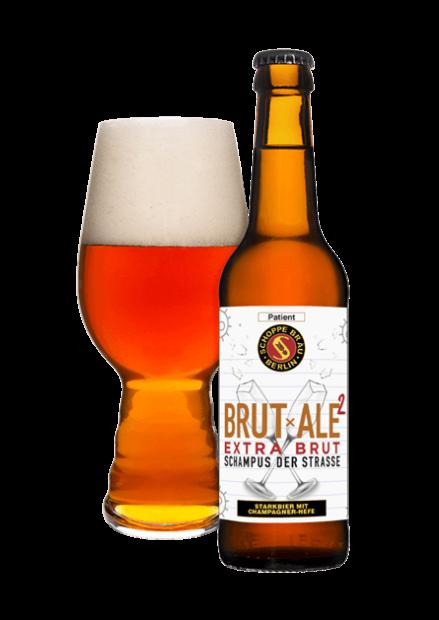 SERIE C 19 / 4 BRUTxALE² Extra Brut Flasche mit Glas